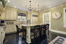 kitchen with center island kitchen in luxury home with center island stock photo picture and