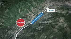 Wildfire Map Bc Today by Cisco Road Wildfire South Of Lytton 1 500 Hectares In Size But No