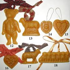 handcrafted beeswax santa ornaments created from