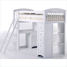 School House Student Loft Bed In White NL NE Kids - Ne kids bunk beds