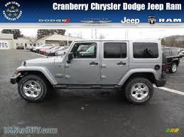 jeep billet silver 2013 jeep wrangler unlimited sahara 4x4 in billet silver metallic