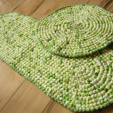 Crochet Doormat 5 Ft Round Rag Rug Made To Order T Shirt From Magicbycrochet On