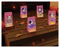 cast a haunting glow with disney character halloween luminaries