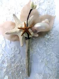 Seashell Bouquet Beach Wedding Boutonniere Wedding Boutonierre Sea Star Boutonierre