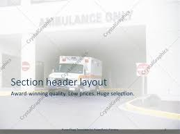 100 ambulance powerpoint template good pello creative