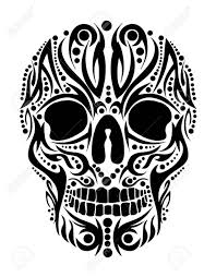 tribal skull stencils clipart library