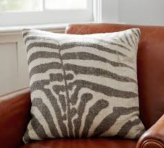 Pottery Barn Kilim Pillow Cover Textured Zebra Print Pillow Cover Pottery Barn