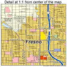 map of fresno fresno california map 0627000