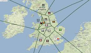 Leicester England Map by Premier League Football Map Shows The Closest Pl Team To You