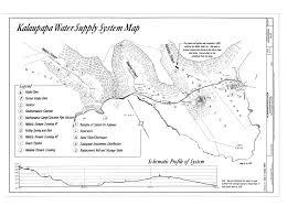Molokai Map File Kalaupapa Water Supply System Waikolu Valley To Kalaupapa