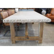 granite top dining table granite top dining table with raw wood base chairish