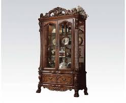 dresden traditional cherry oak wood glass curio cabinet u2026 pinteres u2026