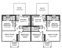 terrell creek duplex home plan 077d 0072 house plans and more