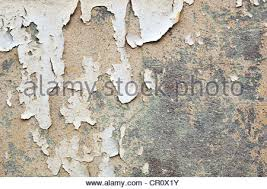Paint Peeling Off Interior Walls Cracked Plaster And Paint Peeling Off An Interior Stone Wall Stock