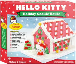 Christmas Cookie Decorating Kit Kitty Holiday Sugar Cookie House