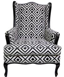 contemporary wing chairs black and white wing chairs pricing black and white geometric