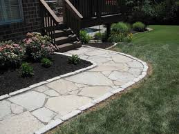 exterior cozy flagstone pavers for outdoor flooring design ideas