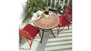 crate and barrel bistro table crate and barrel bistro table popular of red bistro table with