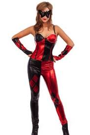 Latex Halloween Costume Wearing Jester Black U0026 Red Latex Clowns Jesters