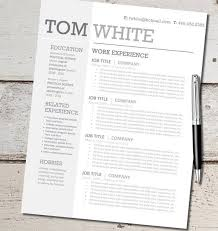 Resume Templates Design 84 Best Resume Templates Images On Pinterest Resume Cv Resume