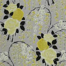 yellow black gold 75022 iola rose harlequin boutique wallpaper