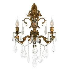 Gold Wall Sconces Worldwide Lighting Versailles 3 Light Gold Wall Sconce With