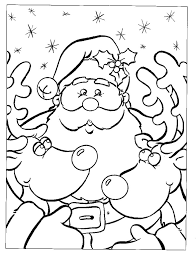 christmas color pages free glum