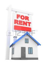 Moving To A New Property by Isolated Model Of House With Sign For Rent Concept Of Real Estate