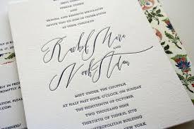 Jewish Wedding Invitations Rae Noah U0027s Classic Wedding Invitations With Modern Calligraphy