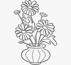 easy flower vase drawing kids drawing sketch