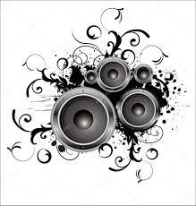 Speaker Design by Abstract Black And White Speaker Design Background Illustration