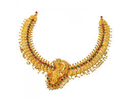 necklace designs with stones images Sree kumaran 22kt antique h elg nagas u gold necklace peacock jpg