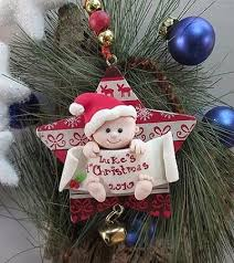 ornaments baby ornament babys our tree together engraved