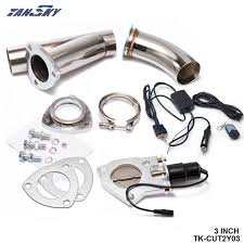 2001 jeep wrangler exhaust system aliexpress com buy tansky 3 electric exhaust catback downpipe
