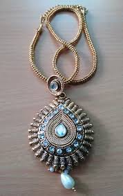 beautiful stone necklace images Gold tone necklace set with beautiful stone work online jpg