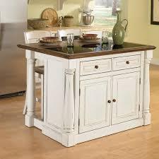oak wood dark roast amesbury door kitchen island cart with stools