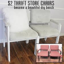 Diy Bench Seat 2 Thrift Store Chairs To Gorgeous Diy Bench Seat