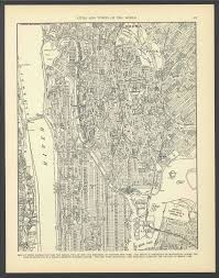 Manhattan Street Map Vintage Street Map Upper Manhattan New York City New York From