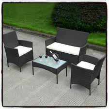 rattan table and chairs 4 piece patio wicker sofa set outdoor