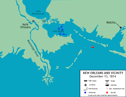Map Of New Orleans by The Battle Of New Orleans C 1815 Louisiana Usa Animation Map