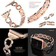 crystal link bracelet images Girl womens crystal link bracelet watch band strap for apple watch jpg