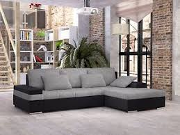 Sofa With Bed New Bangkok Pu Leather U0026 Fabric Corner Sofa With Bed U0026 Storage