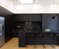black kitchen cabinets nz a matte black kitchen makes a bold statement in this