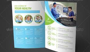 health brochure template health medical care bifold brochure