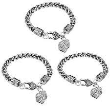 silver crystal heart bracelet images Ijuqi sister gift charm bracelet set 3pcs silver jpg