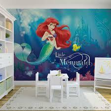 huge little mermaid aerial flounder wallpaper mural