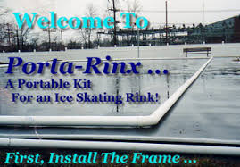 porta rinx 4 ice time portable backyard ice skating rinks