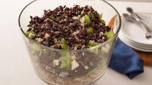 winter bulgur salad with olive dressing