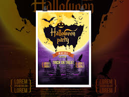 halloween party poster template creatily market
