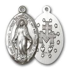 catholic medals miraculous medals 14k gold and sterling silver catholic jewelry